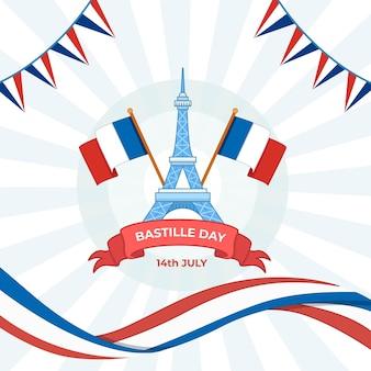 Happy bastille day feier wohnung