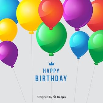 Happy birthday ballons hintergrund