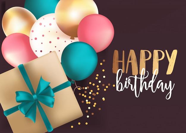 Happy birthday vorlage mit box