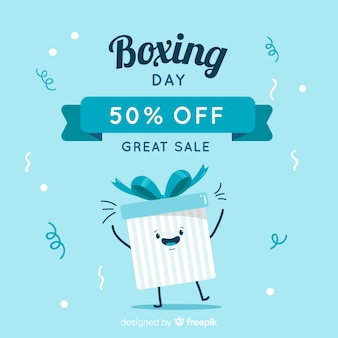 Happy box boxing day hintergrund