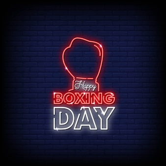 Happy boxing day leuchtreklame