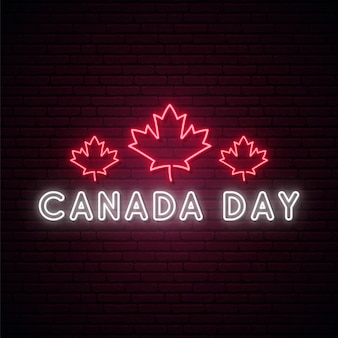Happy canada day leuchtreklame.