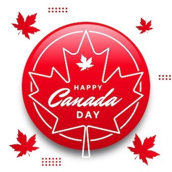 Happy canada day mit ahornblatt