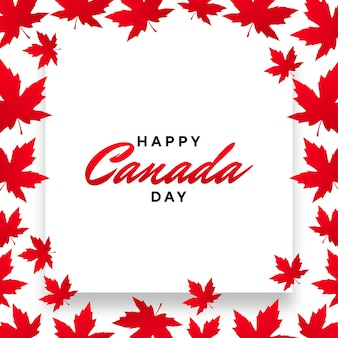 Happy canada day mit ahornblattrahmen