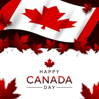 Happy canada day mit flaggenland