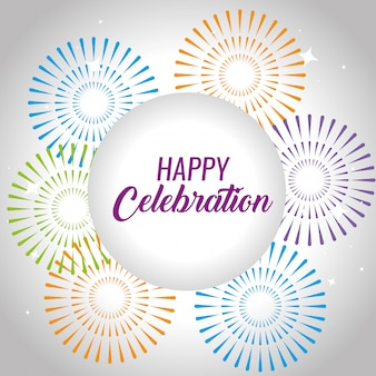 Happy celebration event mit feuerwerk unterhaltung
