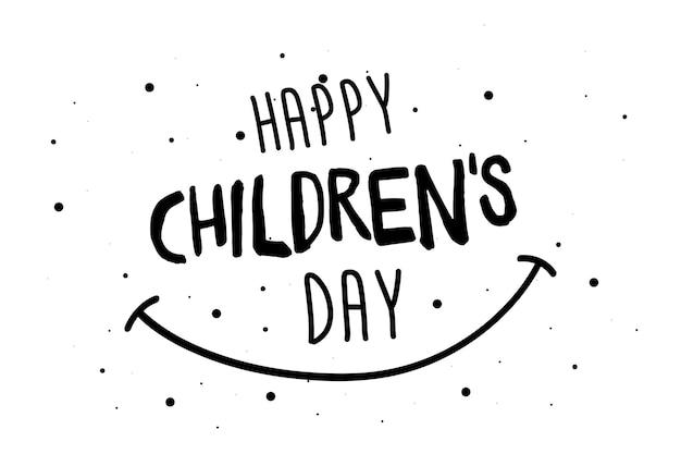 Happy childrens day grußkarte, banner oder poster. 1. juni weltfamilienurlaubs-event-design. vektor-illustration