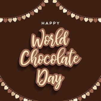 Happy chocolate day schriftzug hintergrund