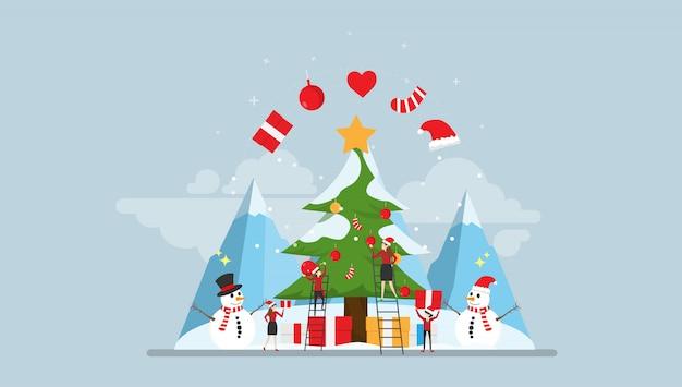 Happy christmas moment mit kleinen leuten