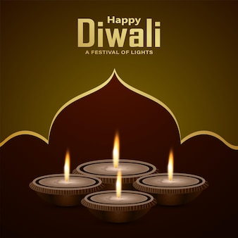 Happy diwali das festival of india feier grußkarte