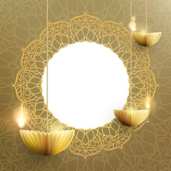 Happy diwali, das indische lichterfest.