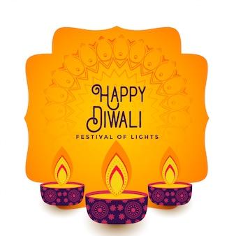 Happy diwali festival hintergrund