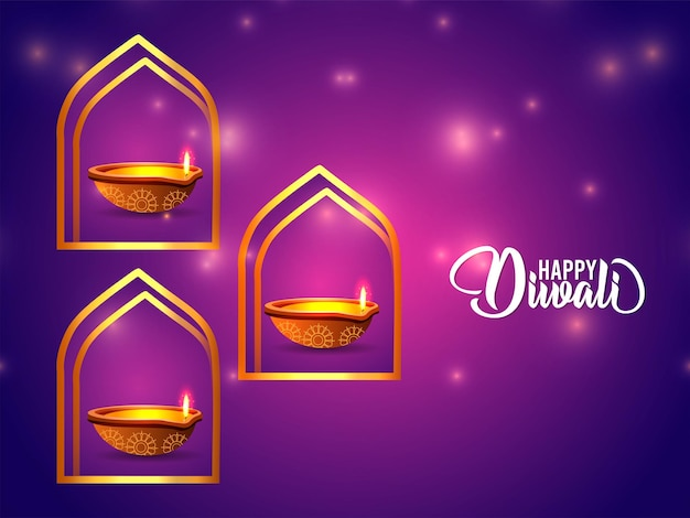 Happy diwali festival of light feierkarte