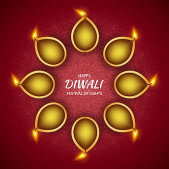 Happy diwali hindu festival des lichts