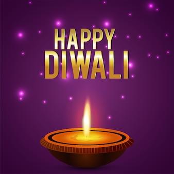 Happy diwali indian festival feier karte