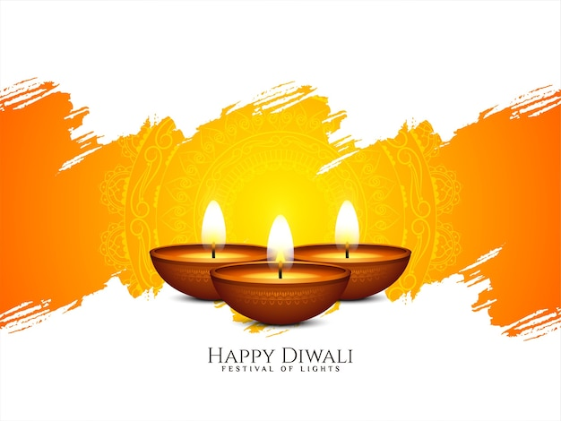 Happy diwali indian festival kulturelle hintergrundillustration