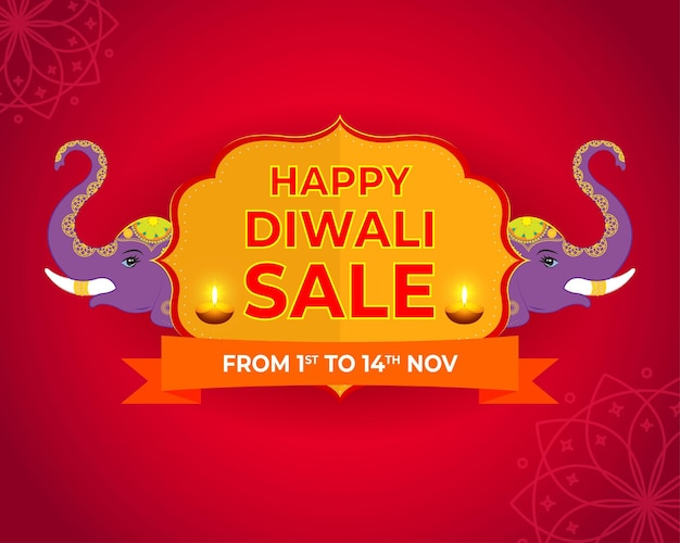 Happy diwali indian festival sale banner