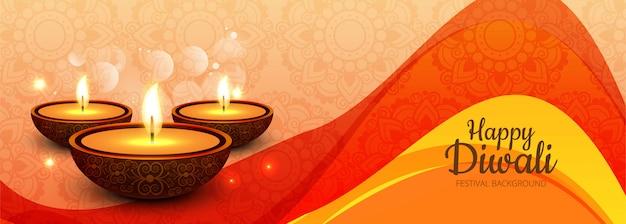 Happy diwali social media werbebanner