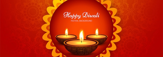 Happy diwali social media werbebanner
