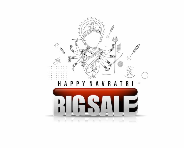 Happy durga puja big sale banner, vektor-illustration.