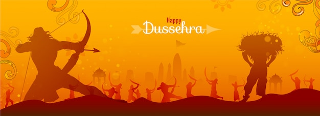 Happy dussehra banner.
