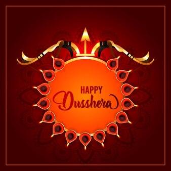 Happy dussehra feier hintergrund celebration