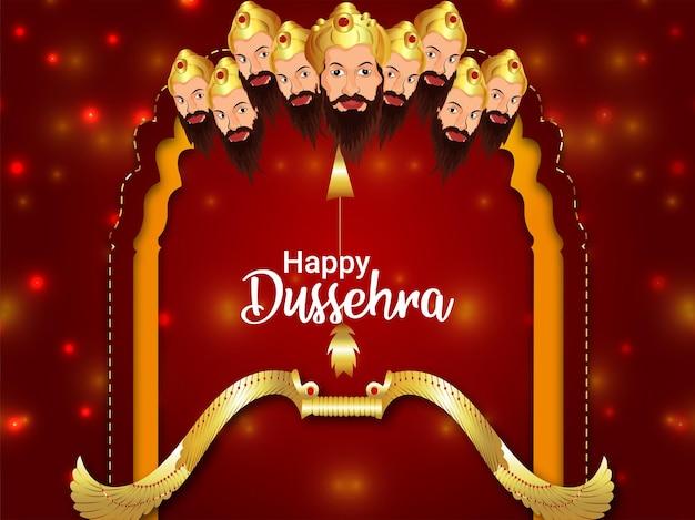 Happy dussehra indian festival feier grußkarte