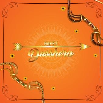 Happy dussehra indian festival feier hintergrund
