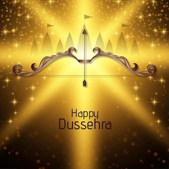 Happy dussehra indian festival glänzend feier hintergrund vektor