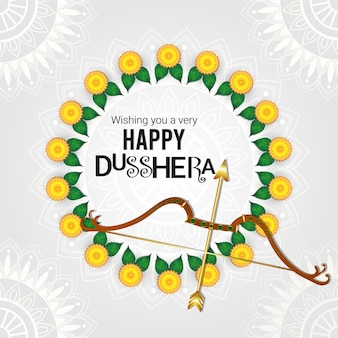 Happy dussehra indian festival hintergrund in