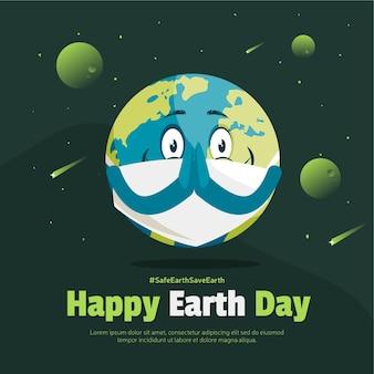 Happy earth day banner-design-vorlage