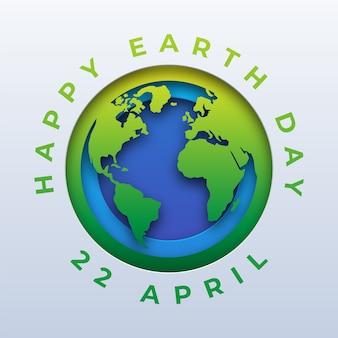 Happy earth day papierschnitt