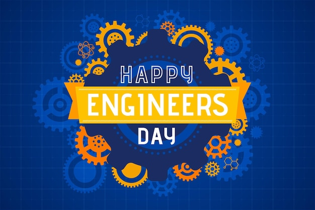 Happy engineers day illustration