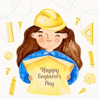 Happy engineers day konzept
