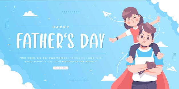 Happy fathers day illustrationskonzept