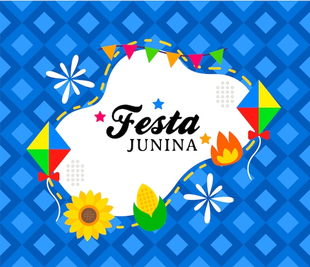 Happy festa junina banner vorlage
