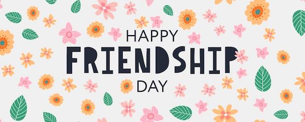 Happy friendship day grußbanner