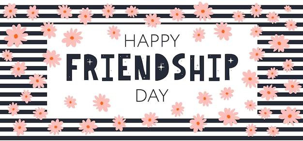 Happy friendship day-grußkarte. für poster, flyer, banner für website-vorlage, karten, poster, logo. vektor-illustration.