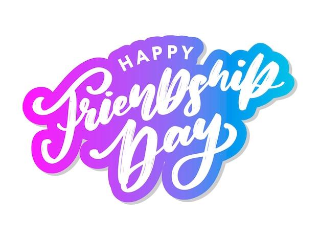 Happy friendship day-grußkarte.