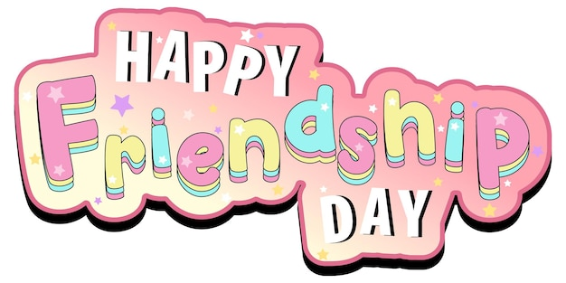 Happy friendship day logo-banner