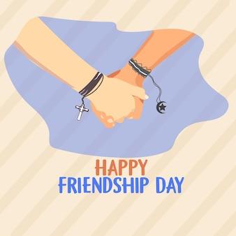 Happy friendship day verschiedene religionsfahne