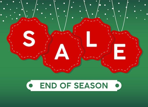 Happy frohe weihnachten verkauf beschriftungskarte mit spitze hängen illustration