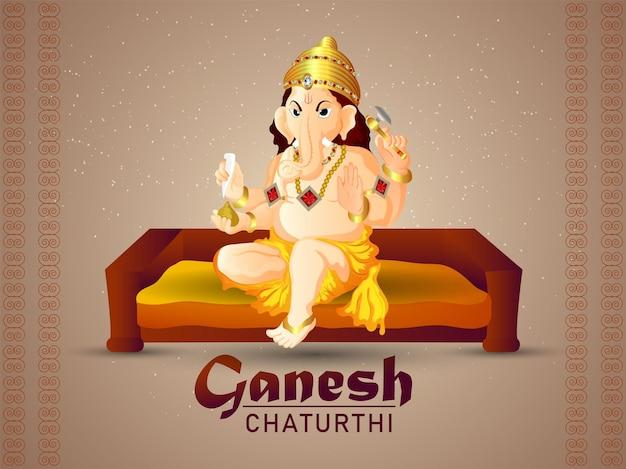 Happy ganesh chaturthi feier grußkarte celebration