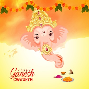 Happy ganesh chaturthi feier grußkarte