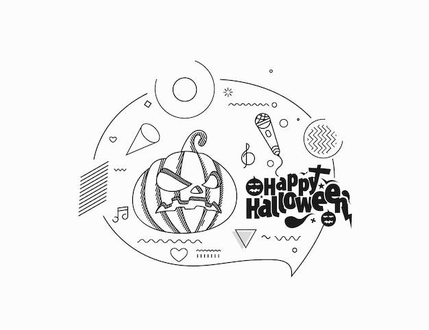 Happy halloween abstrakte party banner oder poster.
