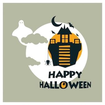 Happy halloween alten haus hintergrund