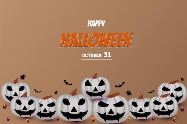 Happy halloween auf braunem hintergrund