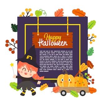 Happy halloween banner-vektor-illustration.