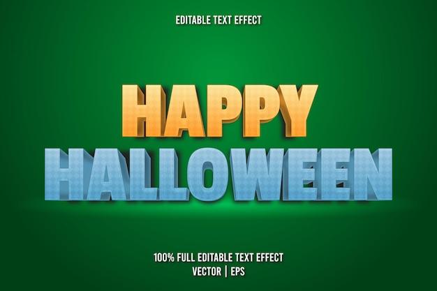 Happy halloween bearbeitbarer texteffekt cartoon-stil