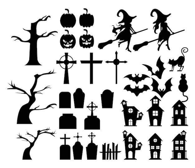Happy halloween bundle set.